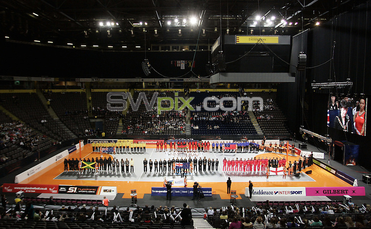 PICTURE BY VAUGHN RIDLEY/SWPIX.COM - Netball - World Netball Series 2009 - MEN Arena, Manchester, England - 09/10/09...Copyright - Simon Wilkinson - 07811267706...Opening Ceremony, GV, General View.