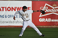 Roberto Lopez (30) of the Salt Lake Bees during the game against the Reno Aces at Smith's Ballpark on May 4, 2014 in Salt Lake City, Utah.  (Stephen Smith/Four Seam Images)