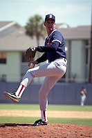 Boston Red Sox pitcher during spring training circa 1990 at Chain of Lakes Park in Winter Haven, Florida.  (MJA/Four Seam Images)