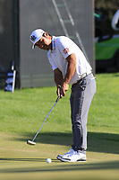 Hideto Tanihara (JPN) putts on the 17th green during Sunday's Final Round of the 2018 Turkish Airlines Open hosted by Regnum Carya Golf &amp; Spa Resort, Antalya, Turkey. 4th November 2018.<br /> Picture: Eoin Clarke | Golffile<br /> <br /> <br /> All photos usage must carry mandatory copyright credit (&copy; Golffile | Eoin Clarke)