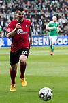 13.04.2019, Weser Stadion, Bremen, GER, 1.FBL, Werder Bremen vs SC Freiburg, <br /> <br /> DFL REGULATIONS PROHIBIT ANY USE OF PHOTOGRAPHS AS IMAGE SEQUENCES AND/OR QUASI-VIDEO.<br /> <br />  im Bild<br /> Jerome Gondorf (SC Freiburg #20)<br /> Einzelaktion, Ganzk&ouml;rper / Ganzkoerper<br /> <br /> <br /> Foto &copy; nordphoto / Kokenge