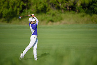 Sung Hyun Park (KOR) watches her approach shot on 8 during round 1 of  the Volunteers of America LPGA Texas Classic, at the Old American Golf Club in The Colony, Texas, USA. 5/5/2018.<br /> Picture: Golffile | Ken Murray<br /> <br /> <br /> All photo usage must carry mandatory copyright credit (&copy; Golffile | Ken Murray)