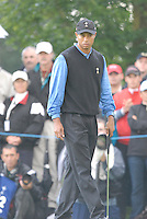 Ryder Cup 206 K Club, Straffin, Ireland...European Ryder Cup team player Tiger Woods on the 1st green during  the  morning fourballs session of the second day of the 2006 Ryder Cup at the K Club in Straffan, Co Kildare, in the Republic of Ireland, 23 September 2006...Photo: Eoin Clarke/ Newsfile.