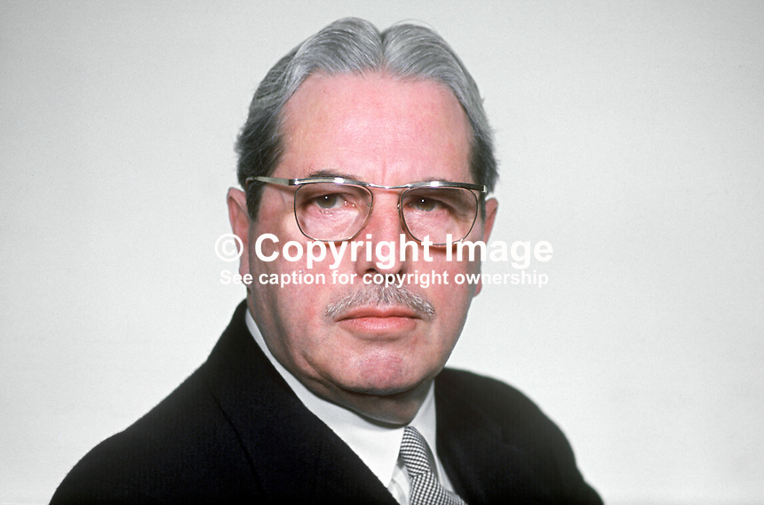 Major Ivan Neill, Ulster Unionist, MP, Speaker, N Ireland Parliament, Stormont, Belfast, 196903000106a<br /> <br /> Copyright Image from Victor Patterson,<br /> 54 Dorchester Park, Belfast, UK, BT9 6RJ<br /> <br /> t1: +44 28 90661296<br /> t2: +44 28 90022446<br /> m: +44 7802 353836<br /> <br /> e1: victorpatterson@me.com<br /> e2: victorpatterson@gmail.com<br /> <br /> For my Terms and Conditions of Use go to<br /> www.victorpatterson.com