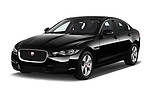 2018 Jaguar XE Base 4 Door Sedan angular front stock photos of front three quarter view