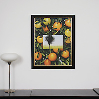 "Preston: Oranges and Trees, Digital Print, Image Dims. 28"" x 22"", Framed Dims. 32.5"" x 26.25"""