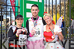 Caroline Mc Connell, Colin Aherne and Marlyn O'Shea at the Valentines 10 mile road race in Tralee on Saturday.