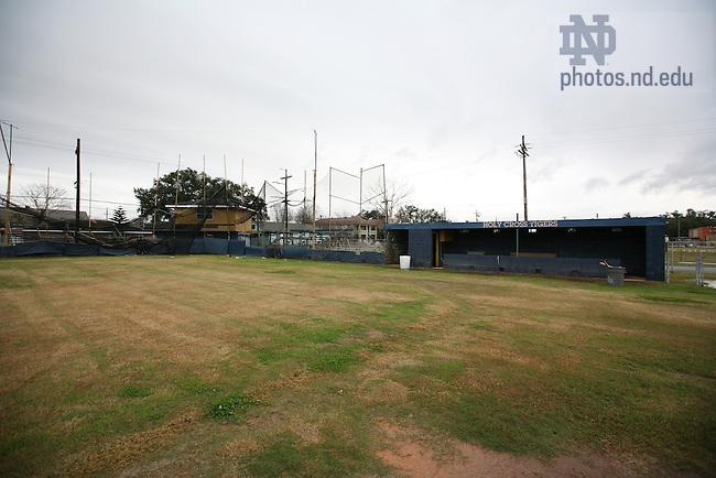 Baseball field for Holy Cross School in Lower Ninth Ward