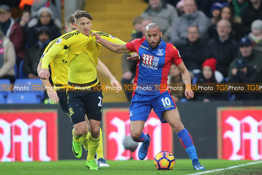 Andros Townsend during Crystal Palace vs Middlesbrough, Premier League Football at Selhurst Park on 25th February 2017