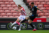 27th June 2020; Bet365 Stadium, Stoke, Staffordshire, England; English Championship Football, Stoke City versus Middlesbrough; James McClean of Stoke City crosses the ball into the box