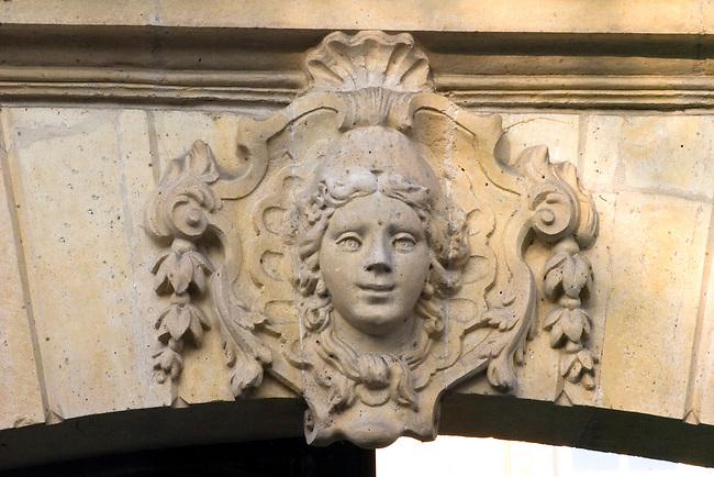 Exterior, Sculpture, Centre Cultural Restaurant, Paris, France, Europe