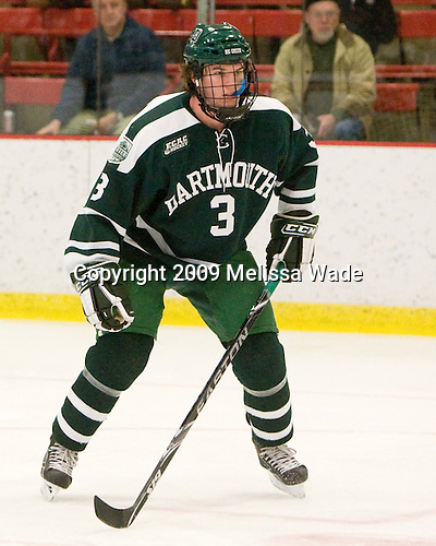 Connor Goggin (Dartmouth - 3) -  The Dartmouth College Big Green defeated the Harvard University Crimson 6-2 on Sunday, November 29, 2009, at Bright Hockey Center in Cambridge, Massachusetts.