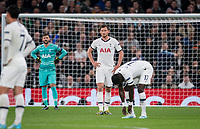 Jan Vertonghen of Spurs after his team concede a goal during the UEFA Champions League group match between Tottenham Hotspur and Bayern Munich at Wembley Stadium, London, England on 1 October 2019. Photo by Andy Rowland.