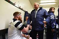 Bristol Bears Chairman Chris Booy with Jake Woolmore after the match. Gallagher Premiership match, between Leicester Tigers and Bristol Bears on April 27, 2019 at Welford Road in Leicester, England. Photo by: Patrick Khachfe / JMP