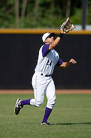 Left fielder Christian Marrero #24 of the Winston-Salem Dash tracks a fly ball at Wake Forest Baseball Park May 10, 2009 in Winston-Salem, North Carolina. (Photo by Brian Westerholt / Four Seam Images)