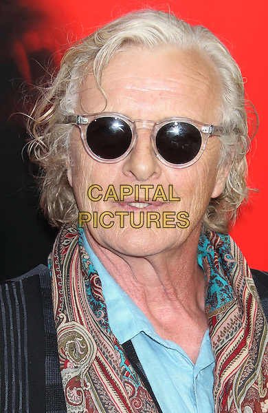 Rutger Hauer<br /> &quot;True Blood&quot; Season 6 Los Angeles Premiere held at The Cinerama Dome, Hollywood, California, USA.<br /> June 11th, 2013<br /> headshot portrait sunglasses shades red print scarf paisley blue shirt black<br /> CAP/ADM/RE<br /> &copy;Russ Elliot/AdMedia/Capital Pictures