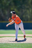 Baltimore Orioles pitcher Max Knutson (94) delivers a pitch during a minor league Spring Training game against the Minnesota Twins on March 17, 2017 at the Buck O'Neil Baseball Complex in Sarasota, Florida.  (Mike Janes/Four Seam Images)