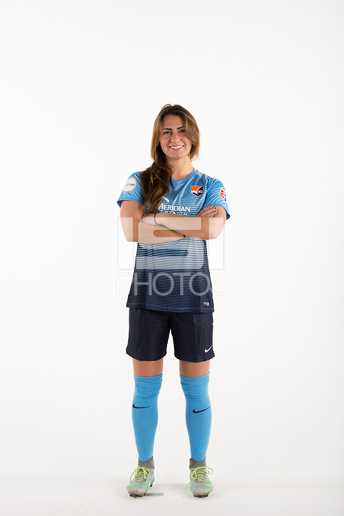 Belmar, NJ - Wednesday March 29, 2017: Jackie Bruno poses for photos at the Sky Blue FC team photo day.