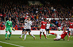 David Brooks of Sheffield Utd reacts to a blocked cross during the Championship match at the City Ground Stadium, Nottingham. Picture date 30th September 2017. Picture credit should read: Simon Bellis/Sportimage