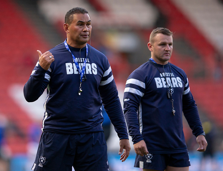 Bristol Bears' Head Coach Pat Lam<br /> <br /> Photographer Bob Bradford/CameraSport<br /> <br /> Gallagher Premiership - Bristol Bears v Bath Rugby - Friday August 31st 2018 - Ashton Gate - Bristol<br /> <br /> World Copyright © 2018 CameraSport. All rights reserved. 43 Linden Ave. Countesthorpe. Leicester. England. LE8 5PG - Tel: +44 (0) 116 277 4147 - admin@camerasport.com - www.camerasport.com
