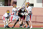 Los Angeles, CA 02/28/09 -  David Krumwiede (USC #19),  Luke Gilliand (USC #30), Chris Stapleton (LMU #36)