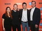 "Lorin Lattaro, John Logan, Tom Kitt and Jason Moore during the Sneak Peak Meet the cast and creative team of the World Premiere Musical ""Superhero"" on January 16, 2019 at the Green Room 42 in New York City."