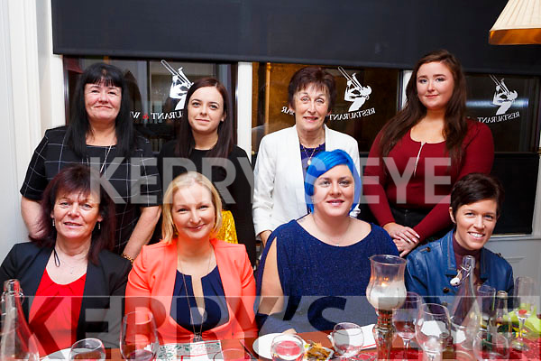 Enjoying the Womens Little Christmas celebrations in the Denny Lane Restaurant on Saturday night, seated l-r, Helen O'Sullivan, Sinead Crean, Tracey O'Sullivan and Linsey Crean. Back l-r, Margaret Foley, Jade Enright, Sheila Crean and Kate Dempsey.