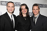 Jordan Roth, Pam MacKinnon & Bruce Norris.attending the Broadway Opening Night Performance After Party for 'Clybourne Park' at Gotham Hall in New York City on 4/19/2012