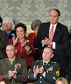 "Washington, D.C. - January 28, 2008 -- United States President George W. Bush delivers his final State of the Union Address to a Joint Session of the United States Congress in the Chamber of the United States House of Representatives in Washington, D.C. on Monday, January 28, 2008. In his speech, the President spoke about the economy, housing, trade, the Iraq War, Iran, and the need for bi-partisan cooperation to ""show that Republicans and Democrats can compete for votes and cooperate for results at the same time."" .Credit: Ron Sachs / CNP"