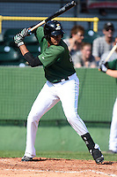 Clinton LumberKings outfielder Wilton Martinez (46) pinch hits during a game against the Beloit Snappers on August 17, 2014 at Ashford University Field in Clinton, Iowa.  Clinton defeated Beloit 4-3.  (Mike Janes/Four Seam Images)