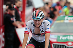 Tadej Pogacar (SLO) UAE Team Emirates finishes 7th at the end of Stage 5 of La Vuelta 2019 running 170.7km from L'Eliana to Observatorio Astrofisico de Javalambre, Spain. 28th August 2019.<br /> Picture: Colin Flockton | Cyclefile<br /> <br /> All photos usage must carry mandatory copyright credit (© Cyclefile | Colin Flockton)