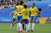 Joie de Christiane (bresil) et de sse coequipieres<br /> Grenoble 09-06-2019 <br /> Football Womens World Cup <br /> Brazil - Jamaica <br /> Brasile - Giamaica<br /> Photo Frederic Chambert / Panoramic/Insidefoto <br /> ITALY ONLY