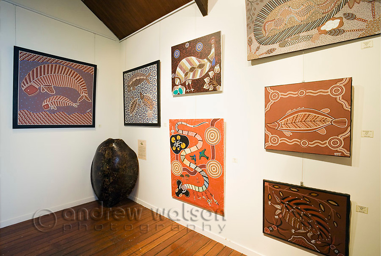 Indigenous art gallery at the Daintree Eco Lodge and Spa.  Daintree, Queensland, Australia