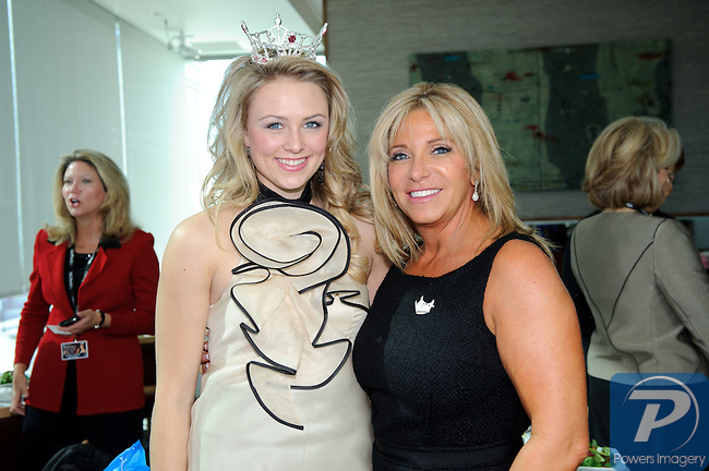 Lacey Russ (Miss America Outstanding Teen) and Jodi Fonfa at the 90th Anniversary Miss America luncheon held at Nieman Marcus inside the Fashion Show Mall, Las Vegas, NV, January 13, 2011 © Al Powers / Vegas Magazine