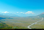 Mount Foraker, Mount Hunter and Mount McKinley, Alaska Range, Denali National Park, Alaska