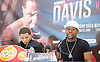 Floyd Mayweather Jr &amp; Frank Warren press conference at The Savoy Hotel, London, Great Britain <br /> 7th March 2017 <br /> <br /> Floyd Joy Mayweather Jr. is an American former professional boxer who competed from 1996 to 2015 and currently works as a boxing promoter. <br /> <br /> <br /> Gervonta Davis <br /> (an American professional boxer who has held the IBF junior lightweight title since January 2017)<br /> <br /> <br /> <br /> Photograph by Elliott Franks <br /> Image licensed to Elliott Franks Photography Services