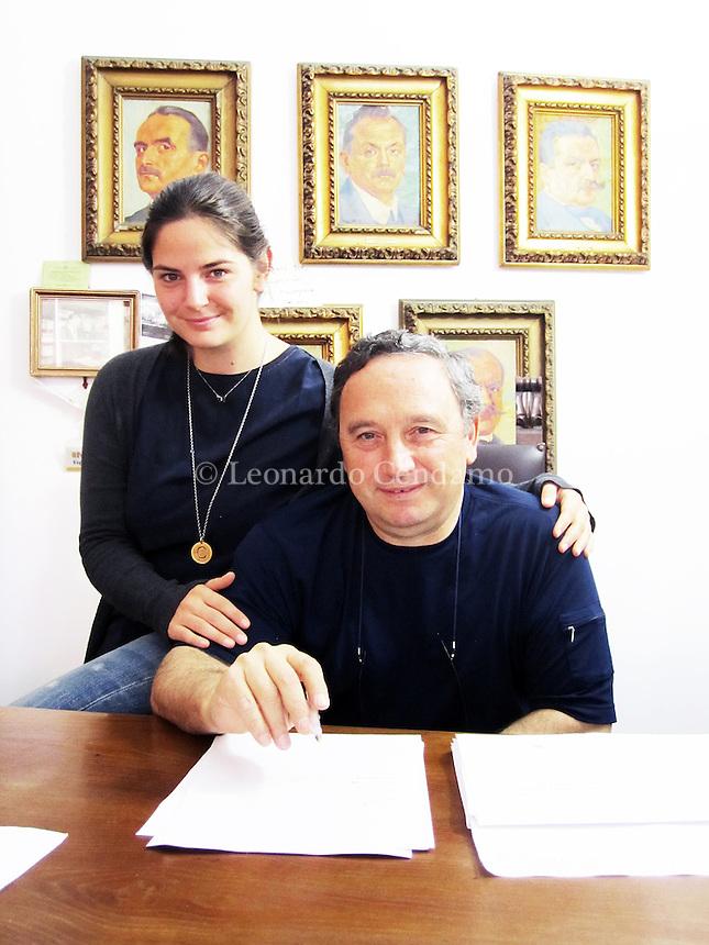 Caterina e Giuseppe Laterza, Editore Bari. Bari, 22 ottobre 2014. © Leonardo Cendamo
