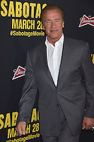 Arnold Schwarzenegger at the premiere of his movie &quot;Sabotage&quot; at Regal Cinemas L.A. Live.<br /> March 19, 2014  Los Angeles, CA<br /> Picture: Paul Smith / Featureflash