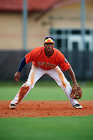 GCL Astros third baseman Reiny Beltre (48) during a game against the GCL Braves on July 23, 2015 at the Osceola County Stadium Complex in Kissimmee, Florida.  GCL Braves defeated GCL Astros 4-2.  (Mike Janes/Four Seam Images)