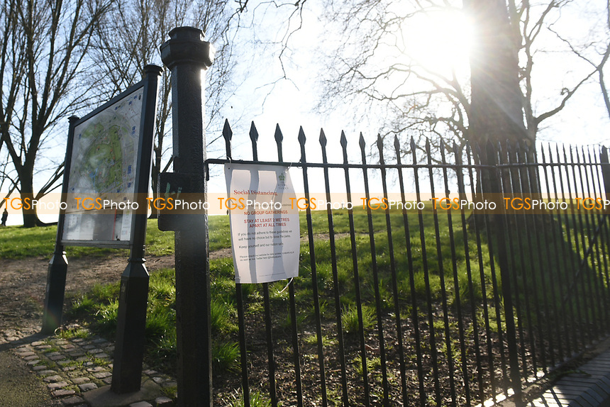Primrose Hill in London. The severe effects of the COVID-19 epidemic continue to change the daily routines of the general public on London on 23rd March 2020