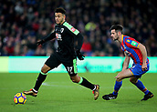 9th December 2017, Selhurst Park, London, England; EPL Premier League football, Crystal Palace versus Bournemouth; Joshua King of Bournemouth takes the ball past Scott Dann of Crystal Palace