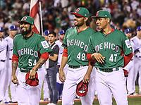 Sergio Romo (54), Joakim Soria (48) y Luis Cruz (47).<br /> Aspectos del partido Mexico vs Italia, durante Cl&aacute;sico Mundial de Beisbol en el Estadio de Charros de Jalisco.<br /> Guadalajara Jalisco a 9 Marzo 2017 <br /> Luis Gutierrez/NortePhoto.com