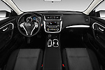 Stock photo of straight dashboard view of 2016 Nissan Altima S 4 Door Sedan Dashboard