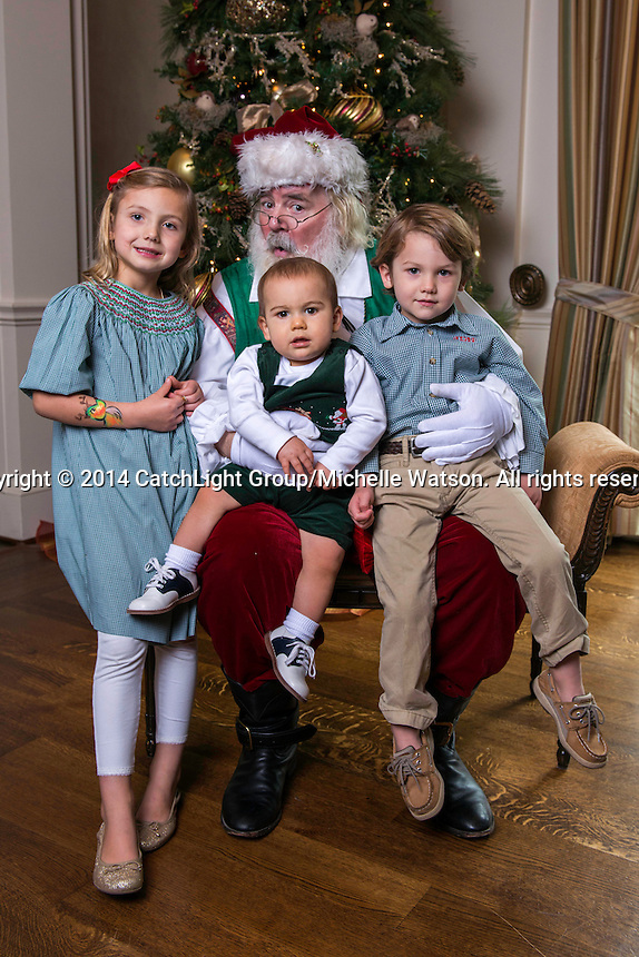DECEMBER 14, 2014; HOUSTON, TX -- Houston Symphony Magical Musical Morning at the River Oaks Country Club with a special visit by Santa Claus