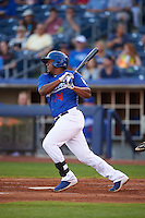 Tulsa Drillers third baseman Daniel Mayora (14) at bat during a game against the Midland RockHounds on June 2, 2015 at Oneok Field in Tulsa, Oklahoma.  Midland defeated Tulsa 6-5.  (Mike Janes/Four Seam Images)