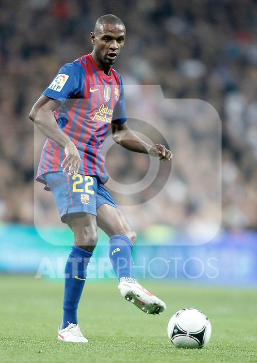 Barcelona's Eric Abidal during King's Cup Match. January 18, 2012. (ALTERPHOTOS/Alvaro Hernandez)