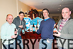 Listowel Food Fair: Pictured at the Listowel food fair's seminar on Craft Beer at thr Listowel Arms Hotel on Friday night last were Martin Stack ,Listowel Off Licence, Jonathan Reid, Brew Dog Craft Beer, Tom Dalton, Dungarvan Brewing Company & Alan Hinchelwood, Listowel.