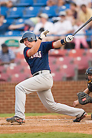 Potomac designated hitter Chris Marerro (24) follows through on his swing versus Winston-Salem at Ernie Shore Field in Winston-Salem, NC, Thursday, August 2, 2007.