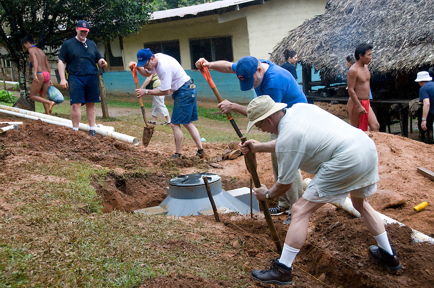 The Marietta Morning Rotary Club traveled to Panama Feb. 20-27 to install a septic tank for the Embera Drua tribe on the Chagres River. (James J. Lee)