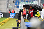 11.05.2019, PreZero Dual Arena, Sinsheim, GER, 1. FBL, TSG 1899 Hoffenheim vs. SV Werder Bremen, <br /> <br /> DFL REGULATIONS PROHIBIT ANY USE OF PHOTOGRAPHS AS IMAGE SEQUENCES AND/OR QUASI-VIDEO.<br /> <br /> im Bild: Schiedsrichter Bastian Dankert ueberprueft per Videobeweis das Bremer Tor zum 2:0 und annulliert es<br /> <br /> Foto &copy; nordphoto / Fabisch
